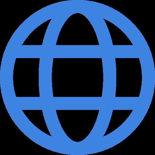 Icona Mondo Blu