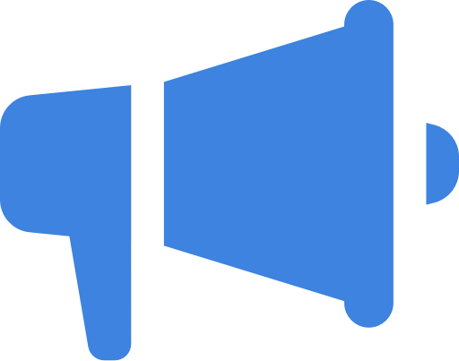 Icona Megafono Blu