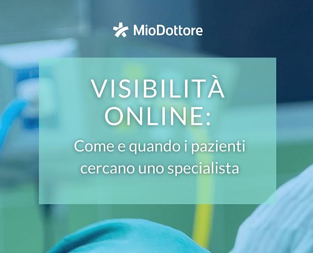 Infografica - Visibilità Online: come e quando i pazienti cercano uno specialista